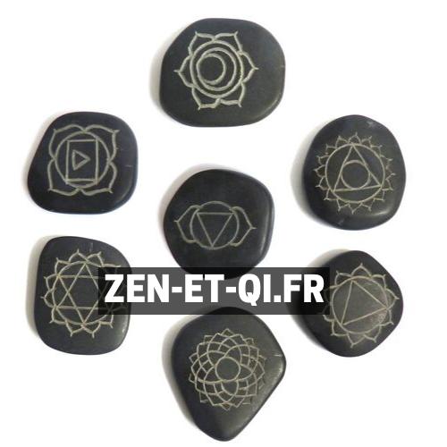 Les chakras des pierres chaudes de massage